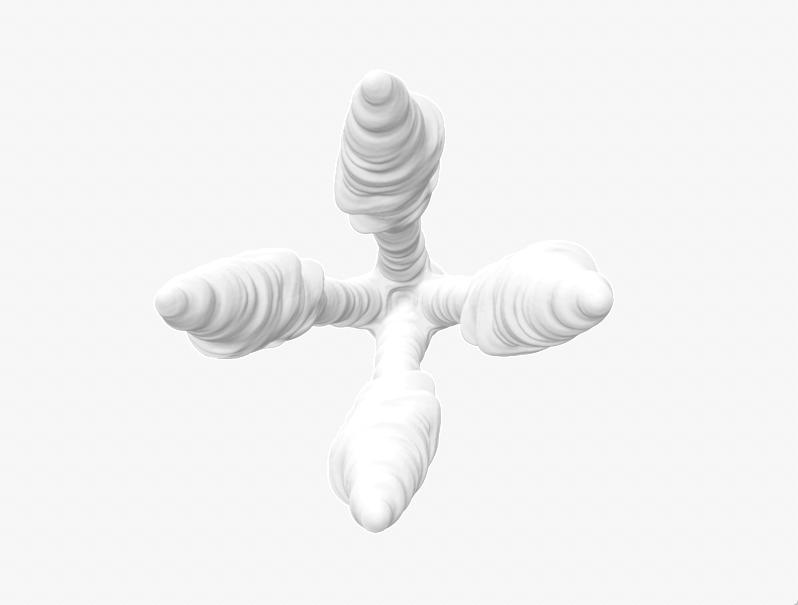 George's breath as 3D shape